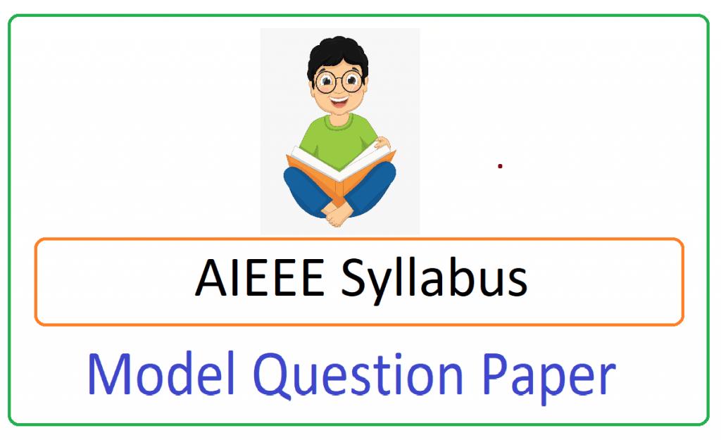 AIEEE Model Paper 2021