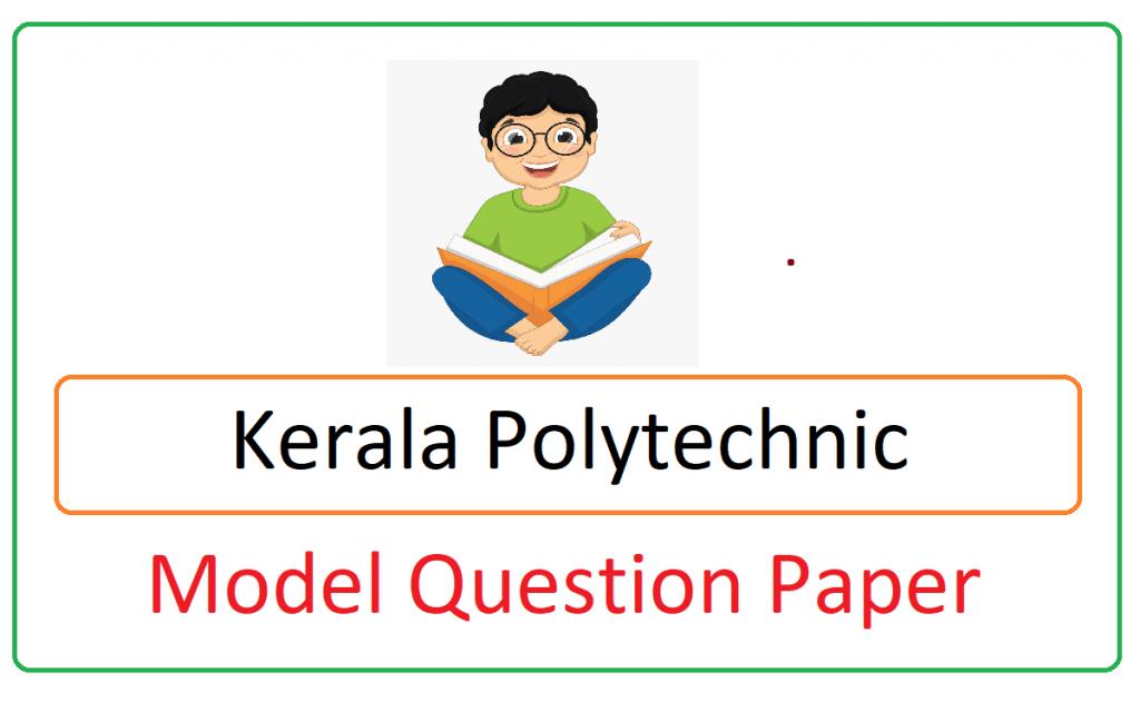 Kerala Polytechnic Model Paper 2021